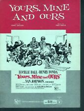Yours Mine and Ours 1968 Lucille Ball Henry Fonda Sheet Music