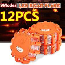 12x LED Road Flares Emergency Lights Flashing Roadside Light Safety Beacon w/Bag