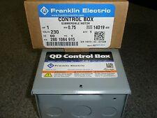 1 HP 230V 1PH Franklin QD Control Box Submersible Water Pump # 2801084915