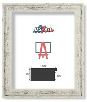 US ART Frames Distressed Grey Flat 1.25 Inch, Polystyrene Picture Poster Frames