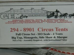 A5607 HO GEM CITY AMUSEMENTS 294-8901 CIRCUS TENTS