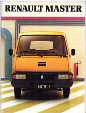 Renault Master 1981 Français marché plaquette commerciale P35 P35D Van châssis-cabine