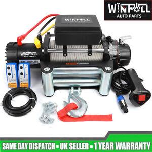 WINFULL Electric Winch 13500lb 12V Wireless Recovery Caravan Trailer Car Grey