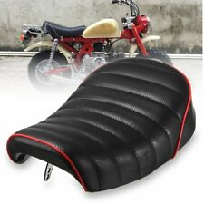 Universal Motorcycle Cafe Racer Seat Black Hump Saddle Cover For Honda MONKEY