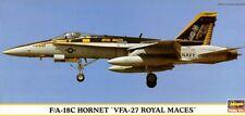F/A 18 C HORNET 'VFA-27 ROYAL MACES' (U.S. NAVY MKGS) 1/72 HASEGAWA RARE!