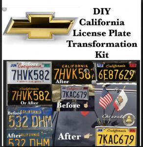 DIY CALIFORNIA Legacy License Plates Chevy