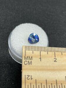 Nice Faceted Mystic Topaz Gemstone Heart in Gem Jar- 2.45ct- Estate Find