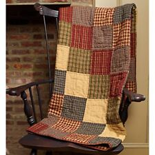 Primitive Country Rustic Rebbecca's  Patchwork Farmhouse Quilt Throw Blanket
