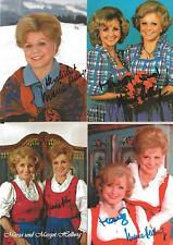 4 Autographs Maria verstorb + Margot Hellwig Folk Music Cow Barn Riding in Bent 2