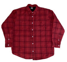 Nike 6.0 Heavyweight Flannel Shirt Size Xl Red Black Quilted Button Up Pockets