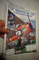A sauver illustration Avion Biplan Magazine 1923 le Moniteur de l'Exportation