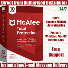 McAfee Total Protection 2019 10 MULTIDEVICE 12 MONTHS FULL VERSION