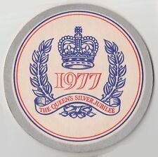 Border Breweries Royal Wrexham Barley Wine Queens Silver Jubilee 1977 Beermat