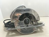 VINTAGE MILLERS FALLS 646 HEAVY DUTY CIRCULAR SAW WITH METAL CASE WORKS