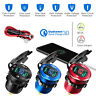 12 Volt Car Van RV Bus Truck Dual USB Charger Socket Adapter with LED Voltmeter