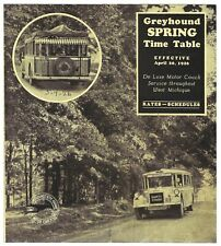 1926 Greyhound Bus SAFETY MOTOR COACH LINES Timetable West Michigan to Chicago