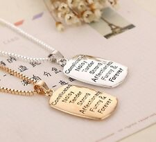 """""""The Love between A Mother And Daughter is""""Pendant Family Necklace Jewelry gift"""