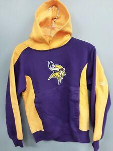 Youth Minnesota Vikings Hoodie Sweatshirt Size M(10/12) Reebok NEW W TAGS