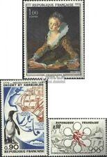 Frankreich 1779,1780,1781 (kompl.Ausg.) postfrisch 1972 Kunst, Inseln, Olympia