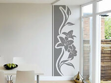Abstract Flowers Door Decor Floral Pattern Wall Decal Art Vinyl Sticker tr871