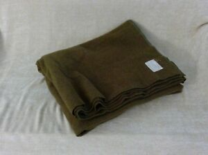 "Original WWII US Army Military Wool Blanket - 64""x76"" - Wyandotte Worster Co."