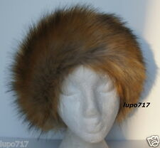 THICK FLUFFY FAUX FUR HEADBAND HAT SKI EAR WARMER MUFFS NEW ONE SIZE 60.5 CM NEW