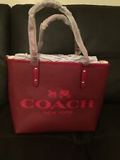 Coach Small Metro Tote Coated canvas Horse And Carriage- Red New With Tags