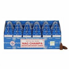 Nag Champa Agarbatti Incense Dhoop Backflow Cones Incense 24 Pcs