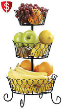 Fruit Basket Holder 3 Tier Wire Stand Kitchen Holder Vegetable Rack Display