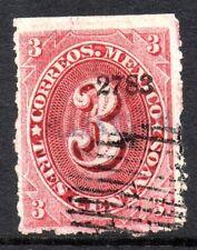 Mexico 1882 Foreign Mail Small Numeral 3¢ Rose Carmine Mazatlan VFU MX54