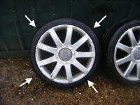 "AUDI A2 17"" RS4 ORIGINAL GENUINE ALLOY WHEELS 8L0601025AC choice of 4"
