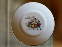 RARE Antique DING DONG BELL NURSERY RHYME PLATE NORITAKE  DELL JOHNNY GREEN
