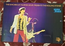 The Rolling Stones King Biscuit Flower Hour original 1979 promotional poster