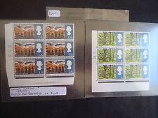 Great Britain 1966 Landscapes (Full Set) (ORD) (Cylinder Blocks 6) (+ Error) MNH