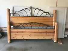 King size Basset Oakwood Head & Footboard bed frame