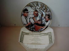 Three Stooges Tree Surgeons Franklin Mint 1994 Plate With Box & Coa New