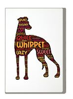 Whippet Art Print Word Art A4 A3 Whippet Mothers Day Gift Personalised Option