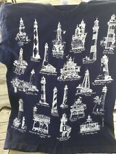 New listing Vintage 1990's Lighthouses of East Coast T-shirt Size Large Michigan Rag Company