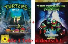 Turtles 1-3 dvd SET deutsch Teenage Mutant Ninja Turtles,Hero,Spielfilme, Movies