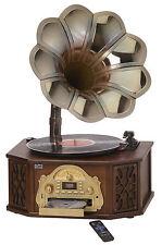Nostalgia 5-in-1 Gramophone Music Center with CD, AM/FM Radio, Turntable, USB