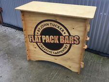 Mobile Bar - Wooden Flat Pack - Promotion, Pop-up, Market, Festival, Wedding