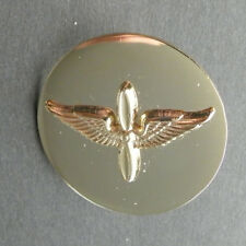 US ARMY AVIATION AVIATOR WINGS GOLD COLORED LAPEL HAT PIN BADGE 1 INCH