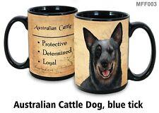 Australian Cattle Dog Mug, 15 oz Black Coffee Mug, My Faithful Friend, Dog