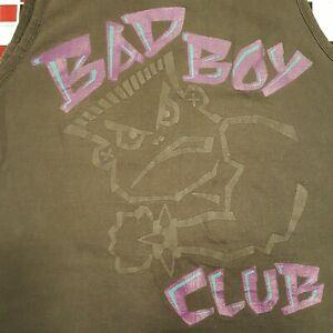 VTG 90s Bad Boy Club Workout XL Black Tank Top T-shirt Boys Beach Gym Surf Skate