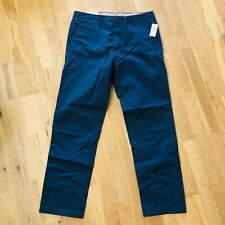 NWT £40 GAP Blue Chino Trousers Lived in Straight Leg Excellent Cond. W32 L30