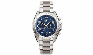 BMW Sport Chrono Blue Watch Stainless (RRP £250) 80262473263