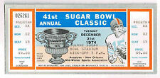 1974  41 st SUGAR BOWL NEBRASKA vs FLORIDA  FULL Ticket Stub