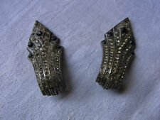 BIJOU 14 Clips Boucles d'oreilles style Art Déco Vintage 90 clips earrings
