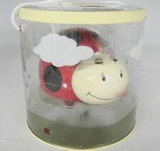 Ceramic Lily Lady Bug Penny Bank & Bug Keeper New by Perine Lowe