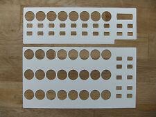 5 Blanko-Overlays für Behringer BCR 2000